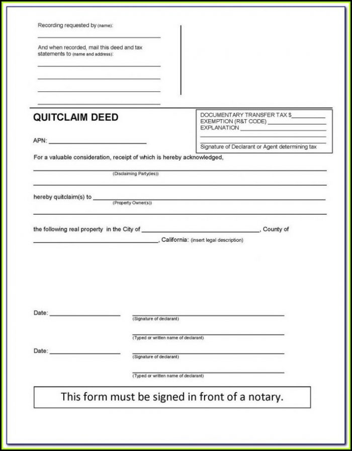Jefferson County Colorado Quit Claim Deed Form