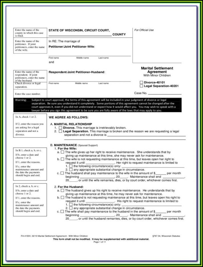 Jefferson County Wi Divorce Forms