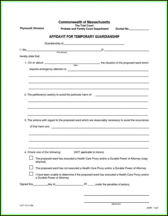 Kansas Temporary Guardianship Forms
