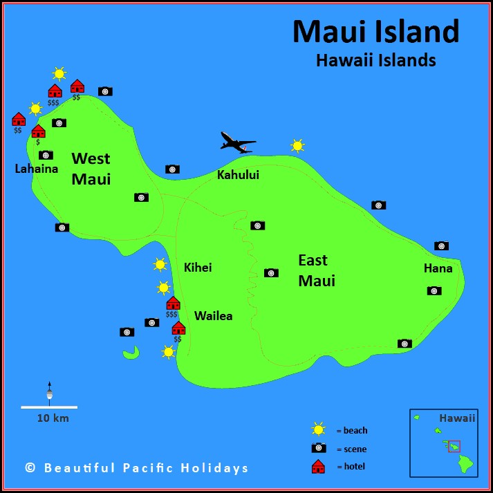 Kauai Accommodation Map