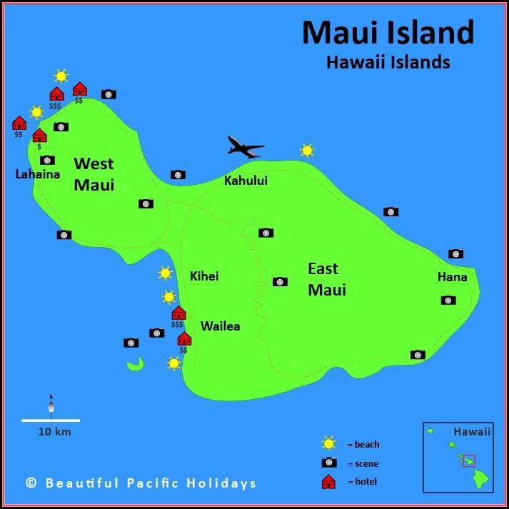 Kauai Accommodation Map