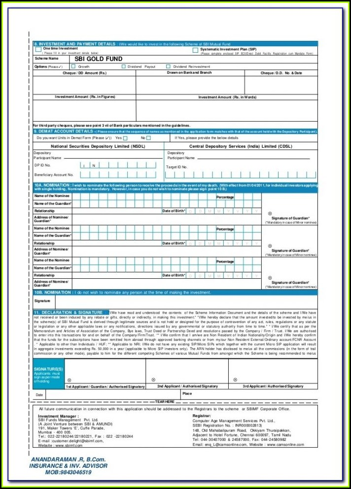 Know Your Customer (kyc) Form Bharat Gas