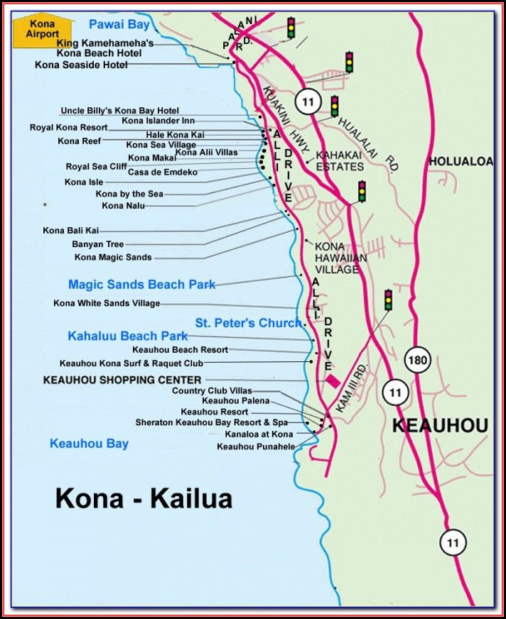 Kona Coast Resort Directions