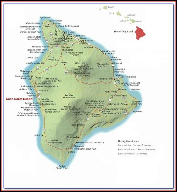Kona Coast Resort Property Map