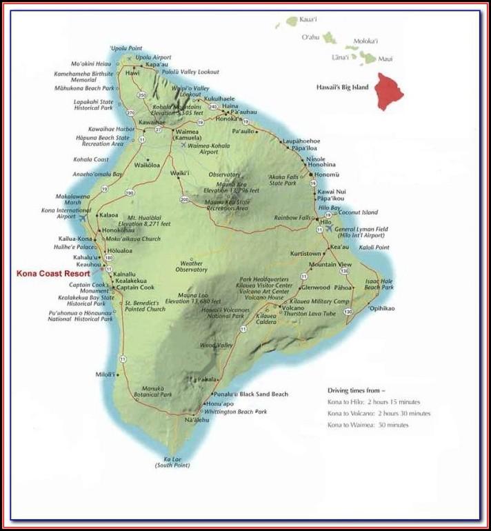 Kona Coast Resort Property Map
