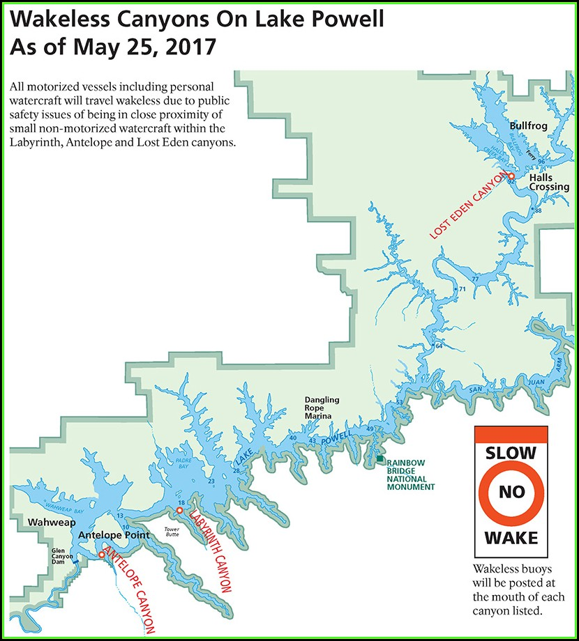 Lake Powell Hiking Map