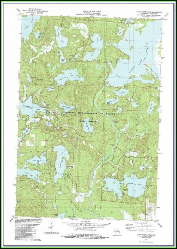 Lake Toho Topographic Map