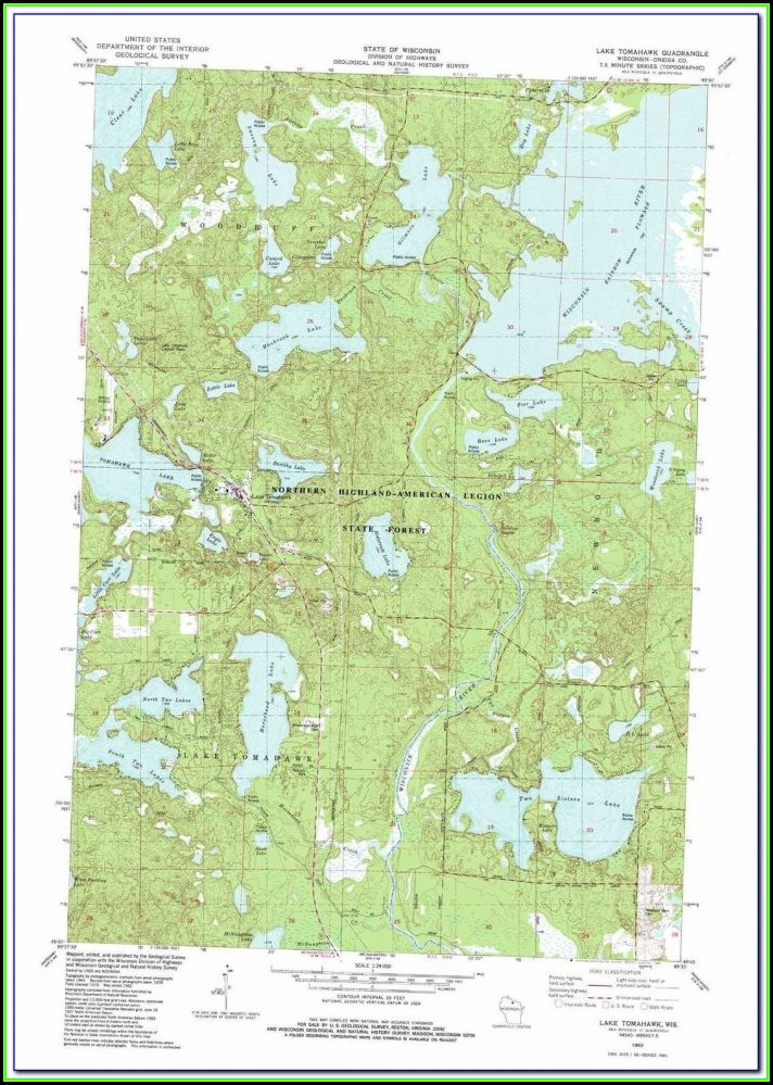 Lake Toho Topographic Map