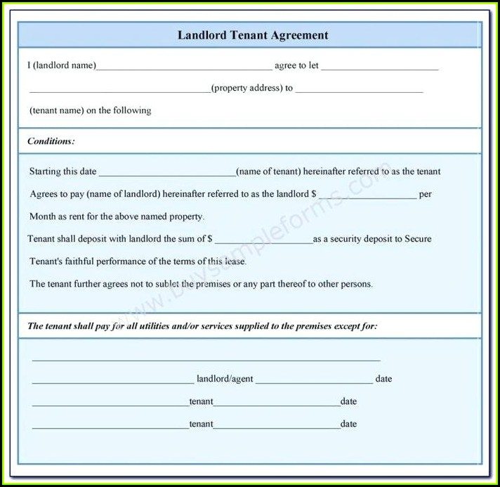Landlord Tenant Agreement Form In Nigeria