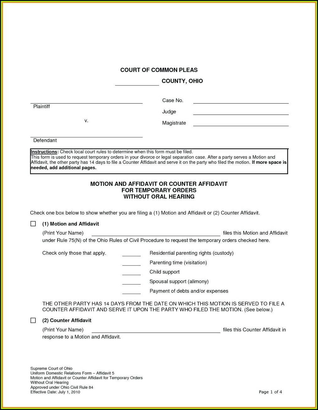 Legal Guardianship Power Of Attorney Forms