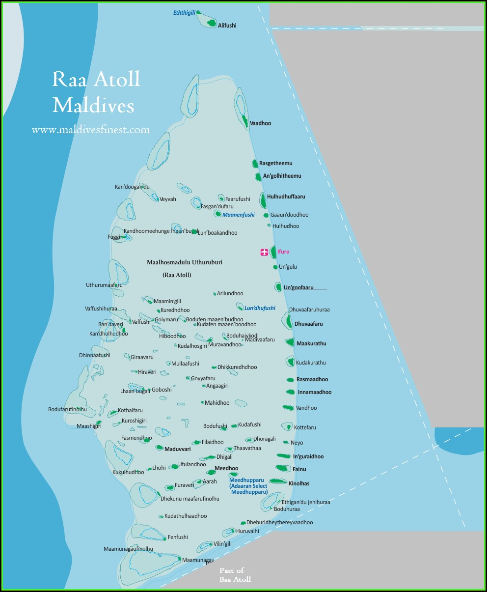 Maldives Map Resorts