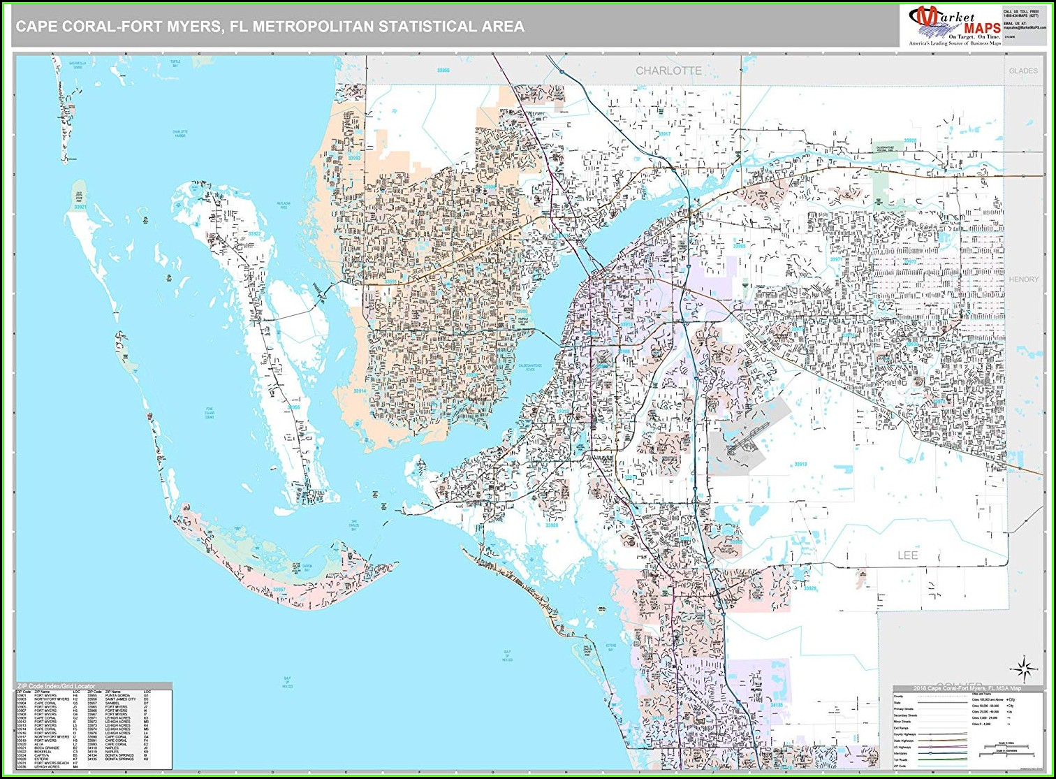 Map Cape Coral Fl Area