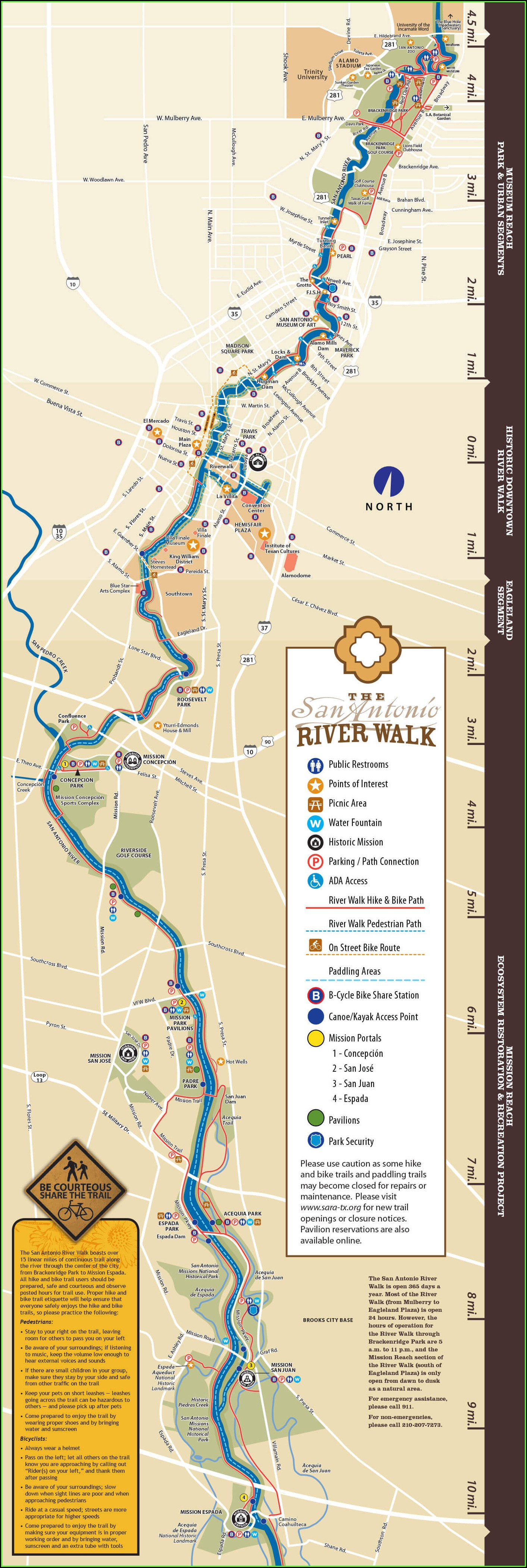 Map Of All Hotels On San Antonio Riverwalk