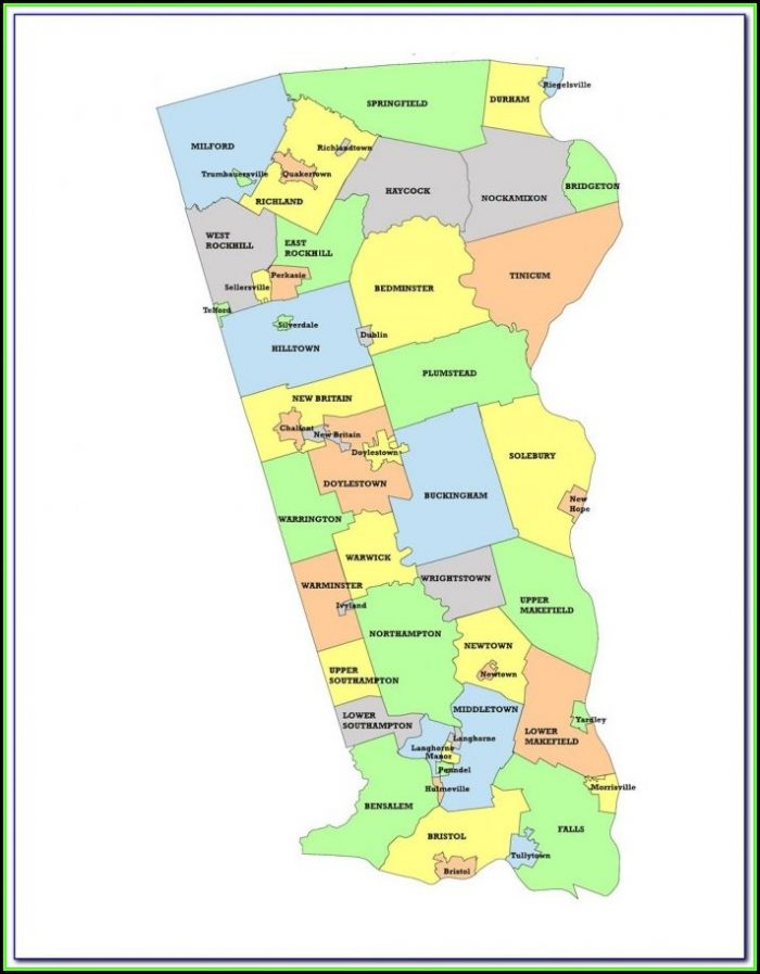 Map Of Bucks County Pa Townships