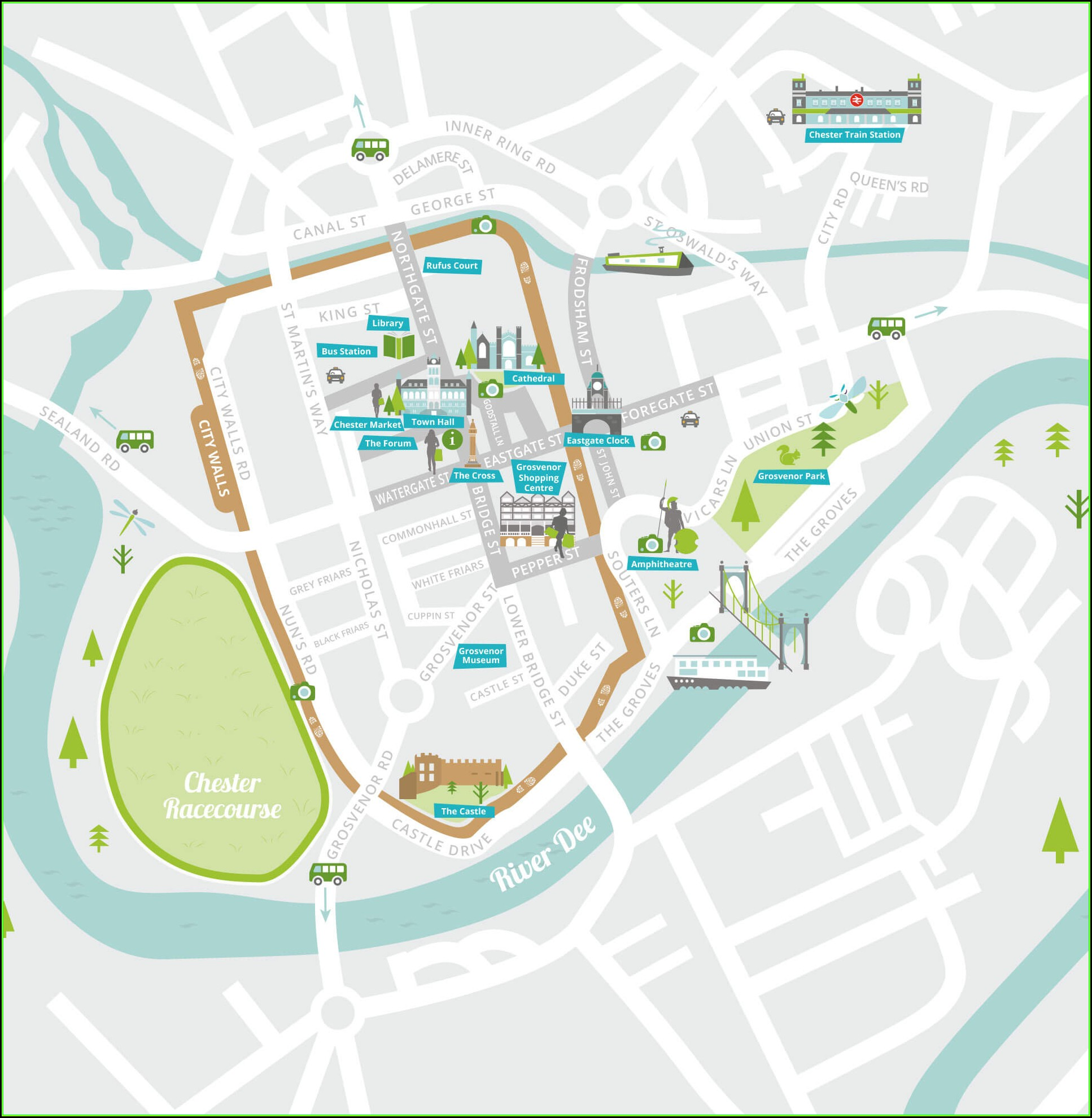 Map Of Chester Parking