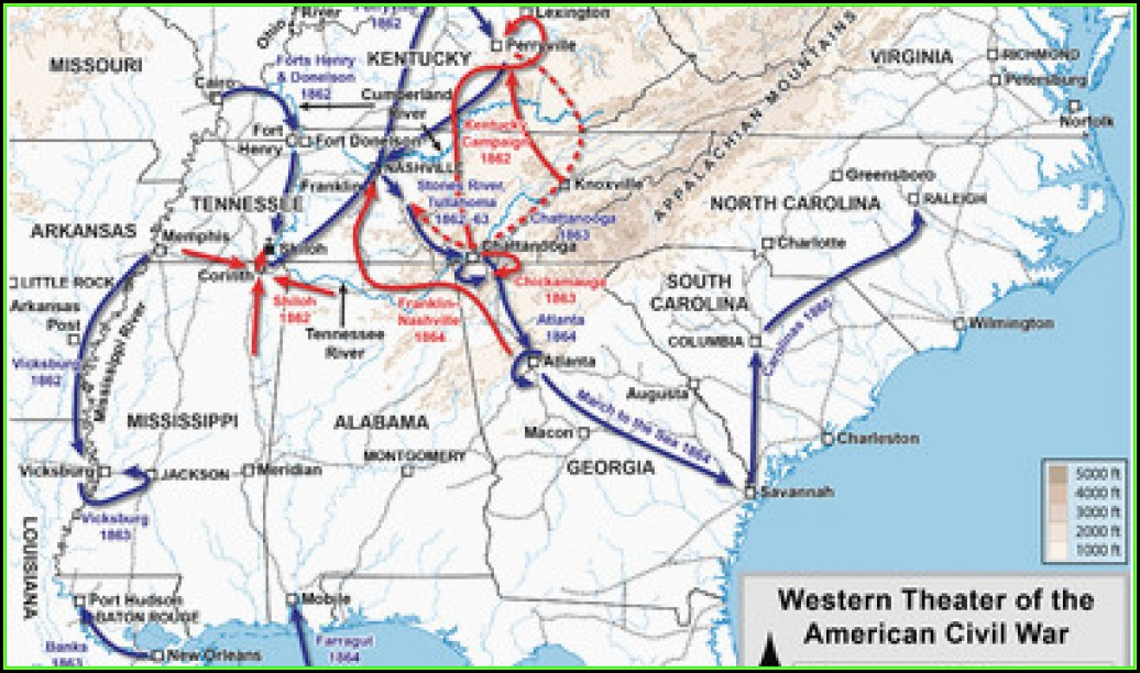 Map Of Civil War Battles In Georgia