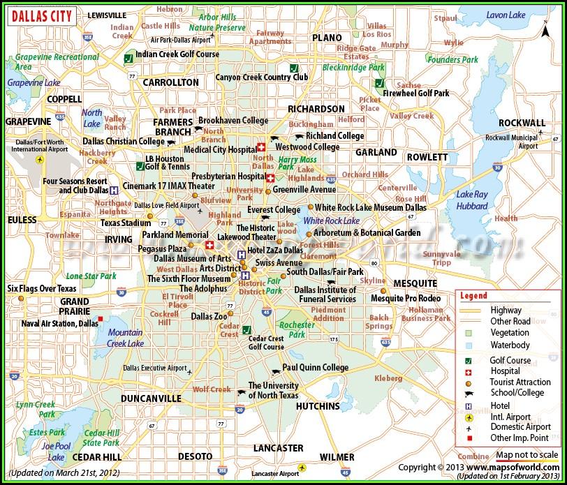 Map Of Dfw Metroplex Cities
