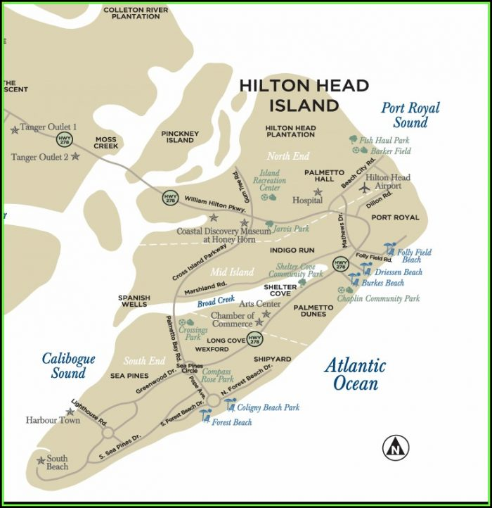 Map Of Hilton Hotels In Charleston Sc