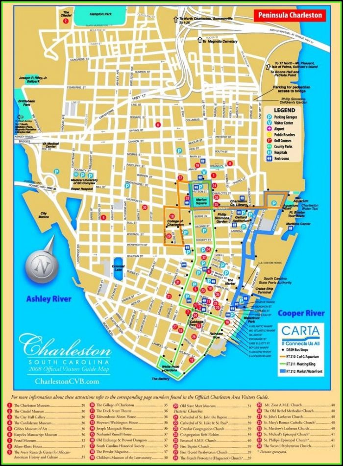 Map Of Hotels In Charleston Sc Historic District