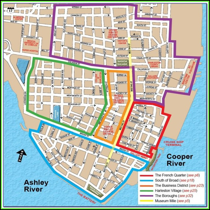 Map Of Hotels In Charleston Sc