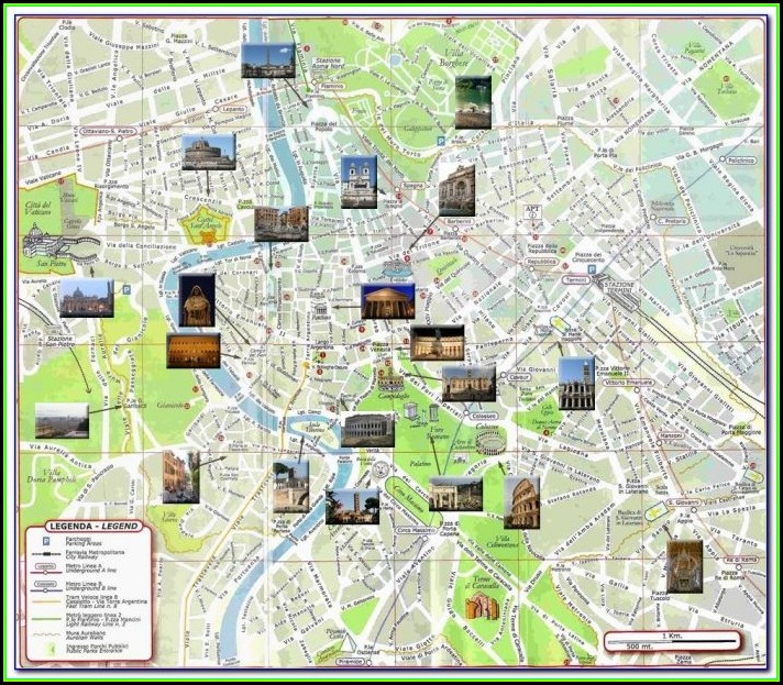 Map Of Hotels In Rome City Centre
