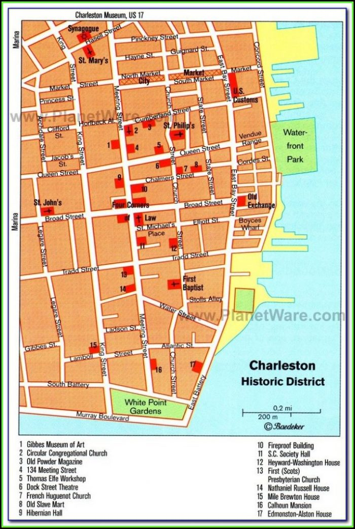 Map Of Hotels Near Charleston Sc Airport