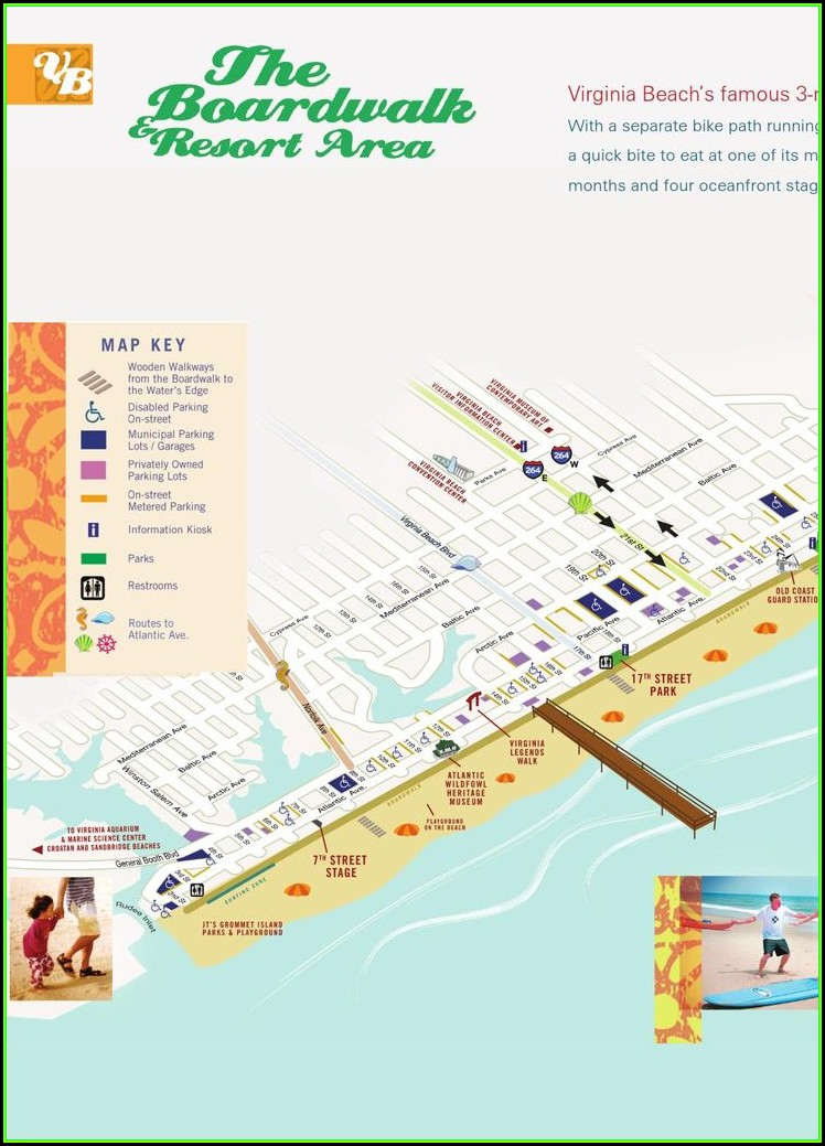 Map Of Hotels On Myrtle Beach Boardwalk