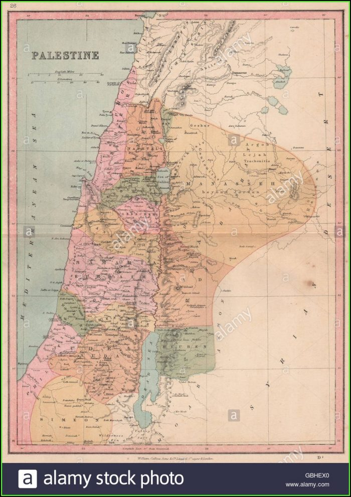 Map Of Israel Showing 12 Tribes