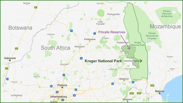 Map Of Kruger National Park Lodges