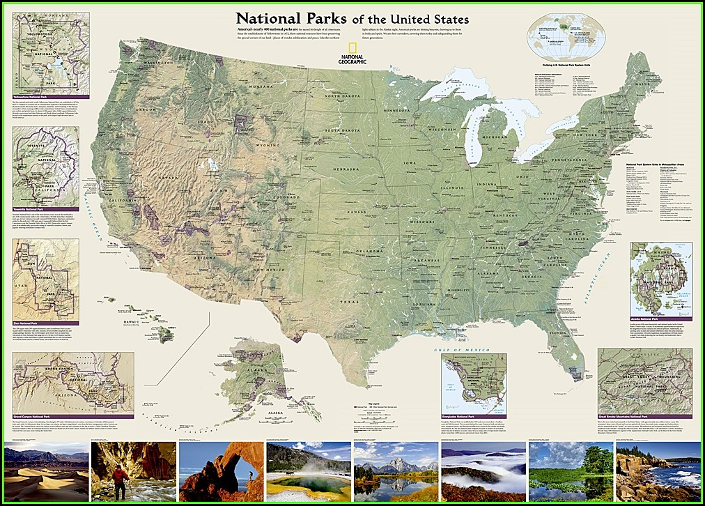 Map Of National Parks And Forests In Us