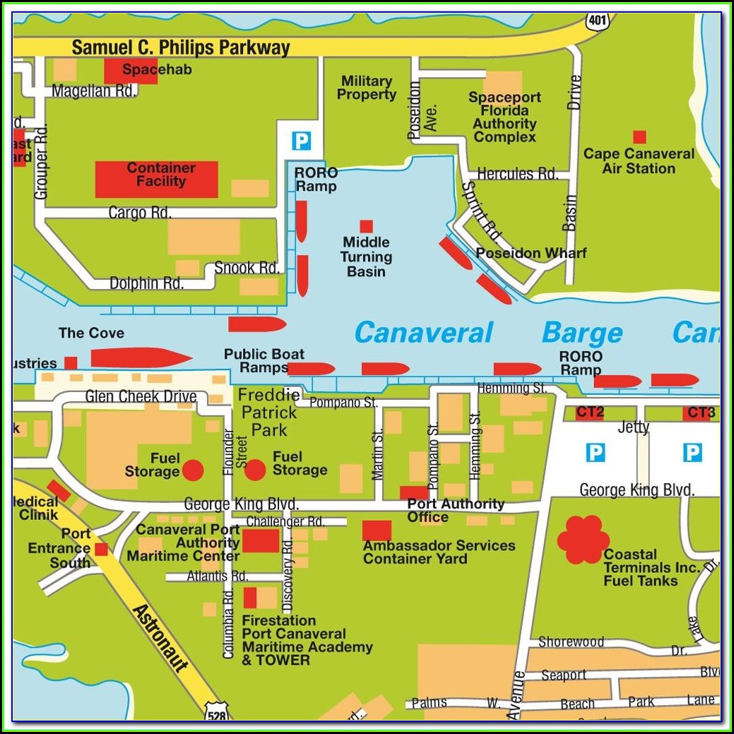 Map Of Port Canaveral Hotels