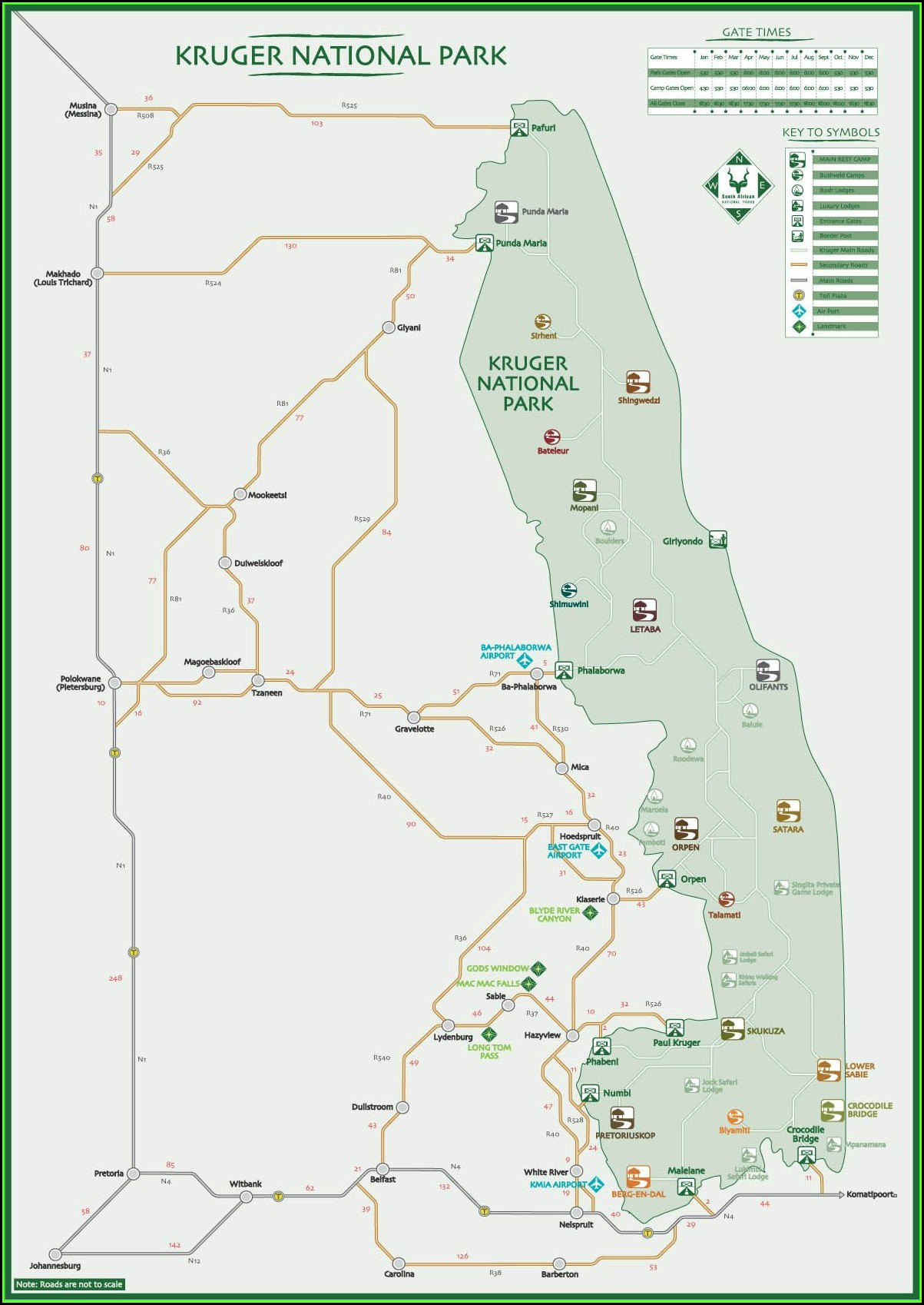 Map Of Private Lodges In Kruger National Park