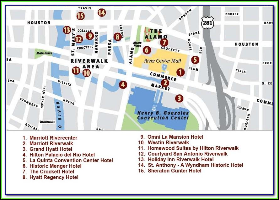 Map Of Riverwalk Hotels