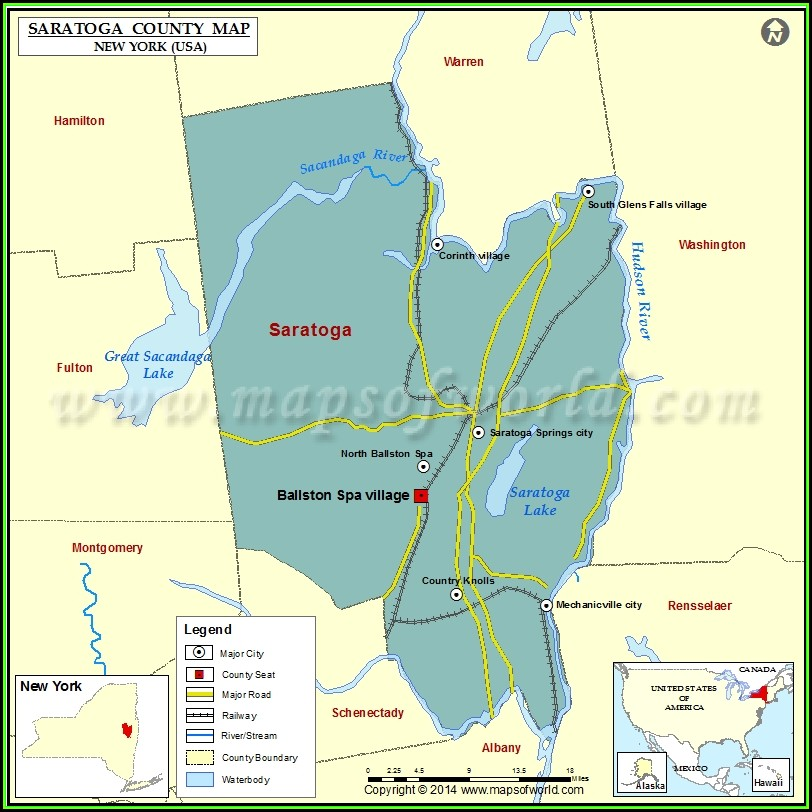 Map Of Saratoga County Ny