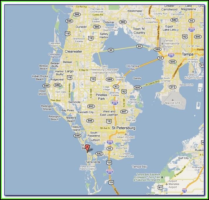 Map Of St Pete Beach Fl Hotels