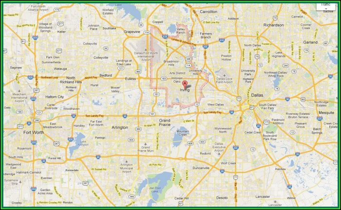 Map Of The Dallas Metroplex Area