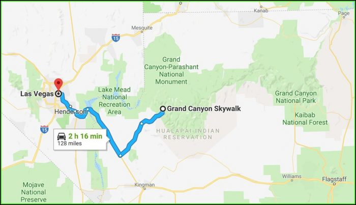 Map Of The Grand Canyon And Las Vegas