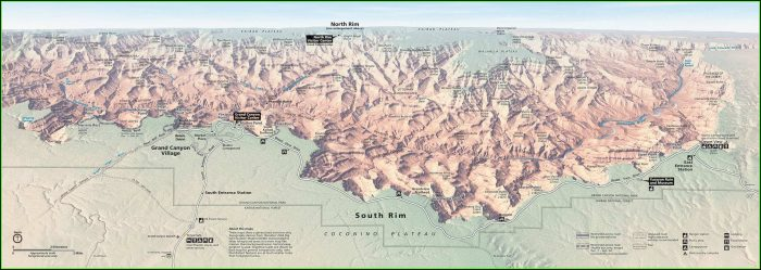 Map Of The Grand Canyon South Rim