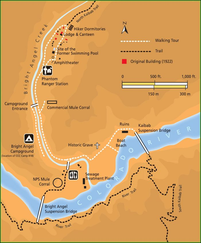 Map Of The Grand Canyon Trails