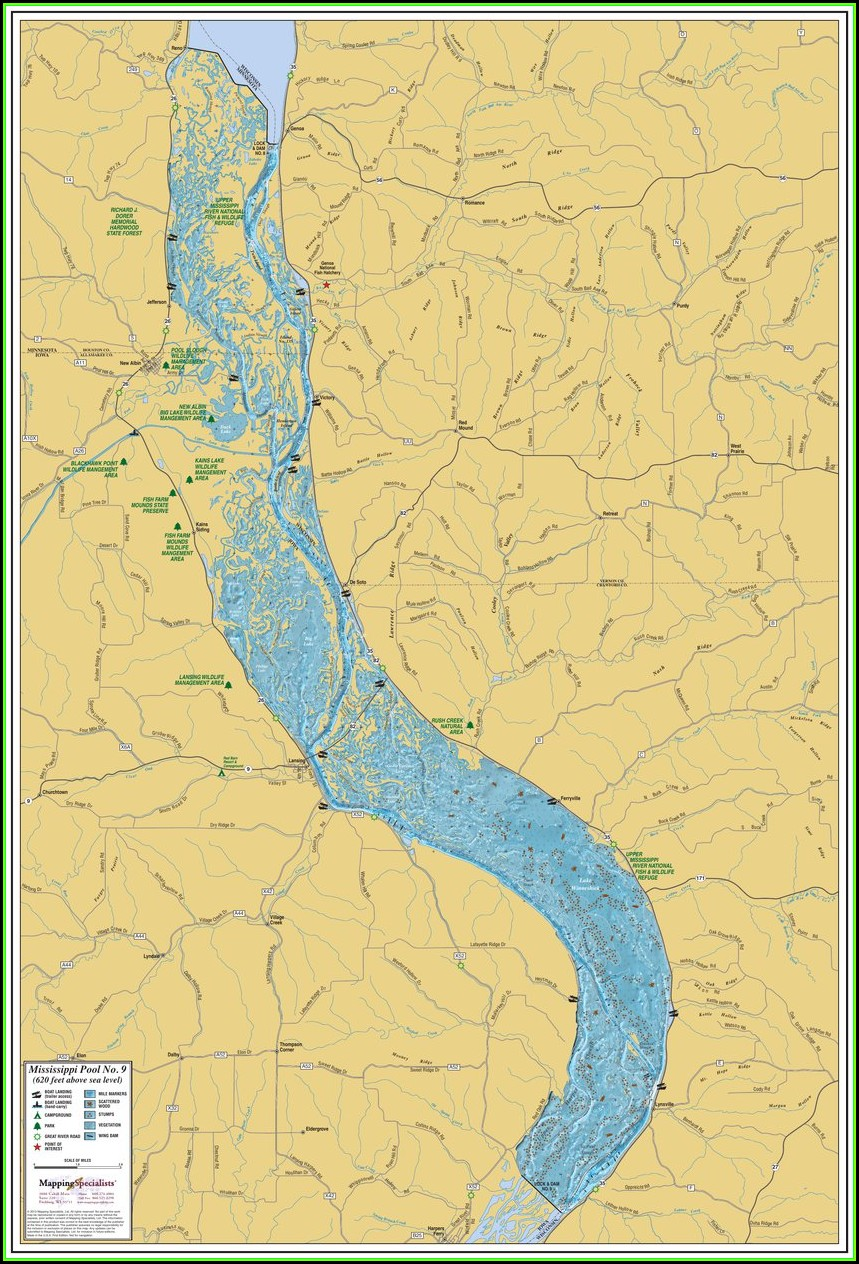 Map Of The Mississippi River In Wisconsin