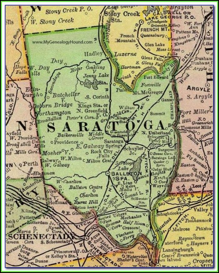 Map Of Towns In Saratoga County Ny