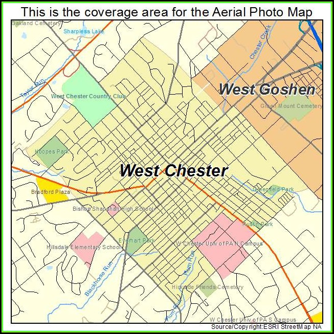 Map Of West Chester Pa And Surrounding Areas