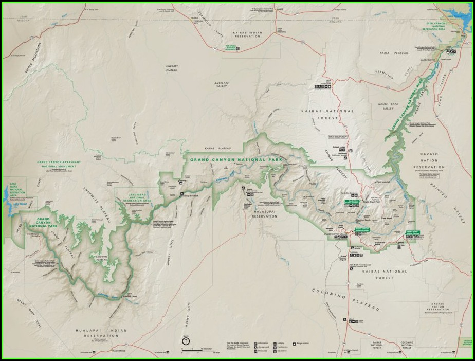 Map Of Where The Grand Canyon Is Located