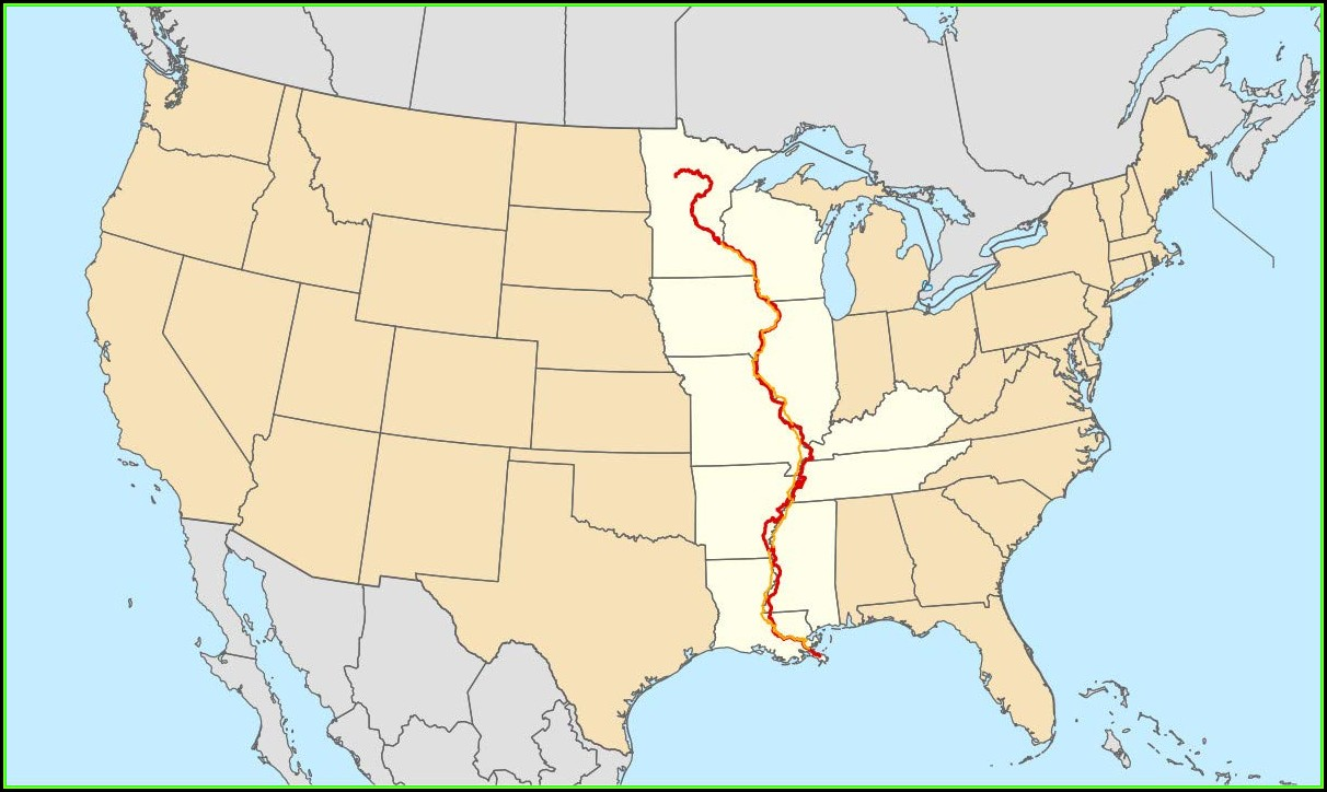 Map Of Where The Mississippi River Is Located