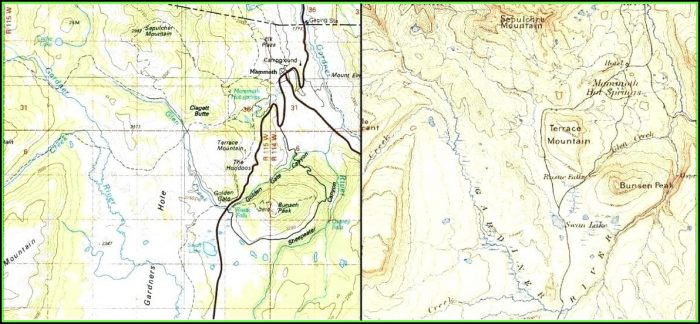 Map Of Yellowstone National Park Campgrounds