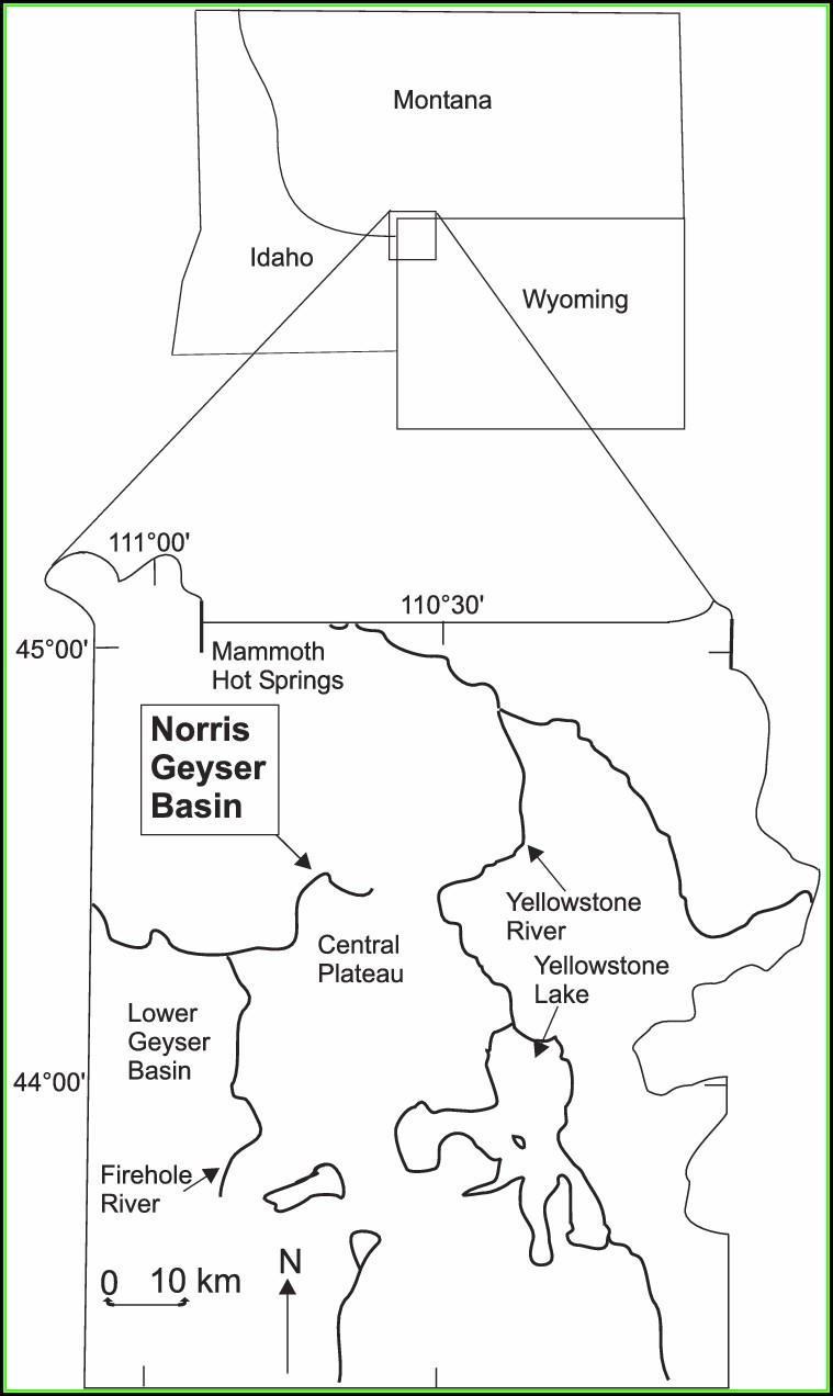 Map Of Yellowstone National Park Wyoming