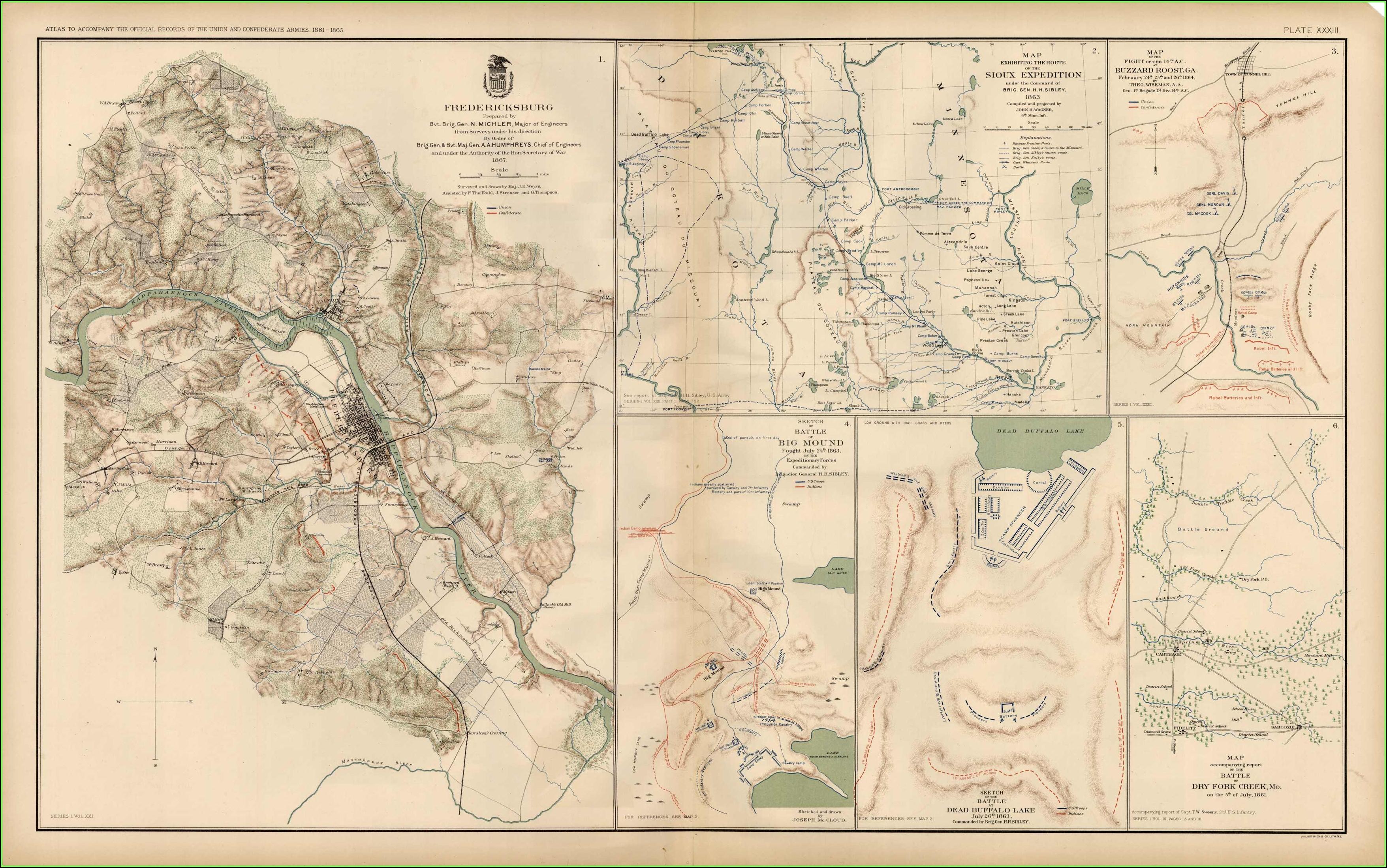 Maps Of Civil War Battles