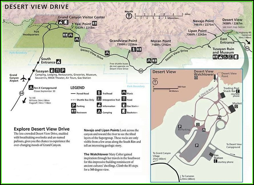 Maps Of The Grand Canyon Area