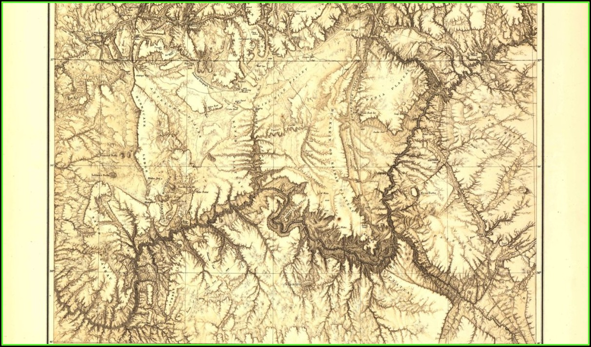 Maps Of The Grand Canyon