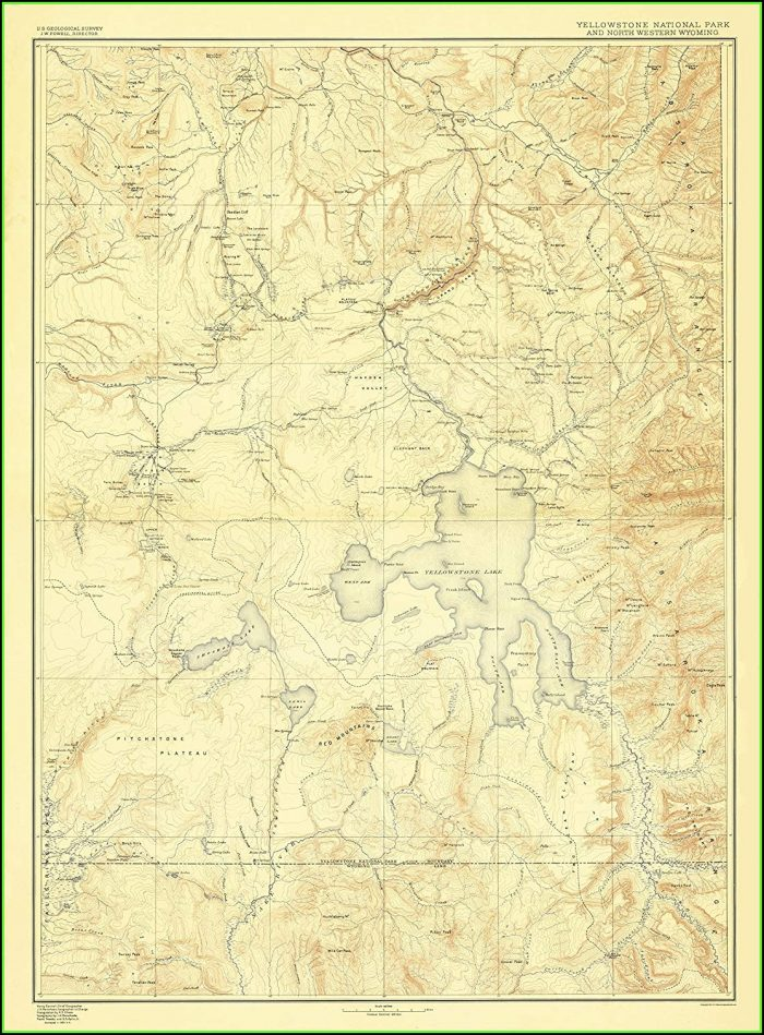Maps Of Yellowstone National Park